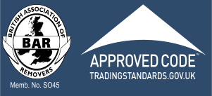 British Association of Removers - Membership Number S045 - Trading Standards Approved Code
